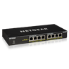 Netgear GS308PP Unmanaged Gigabit Ethernet (10/100/1000) Schwarz Power over Ethernet (PoE) GS308PP-100EUS