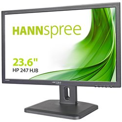 HANNSPREE MONITOR 23,6 16:9 FHD 5MS 250CDM VGA/DVI/HDMI MULTIMEDIALE PIVOT ** SPROVVISTO DI CAVI ** AGGIUNGERE COD. 80-PP000003G