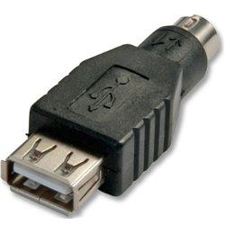Lindy 70000 adaptador de cable USB PS/2 Negro