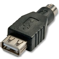 Lindy 70000 cable interface/gender adapter USB PS/2 Black
