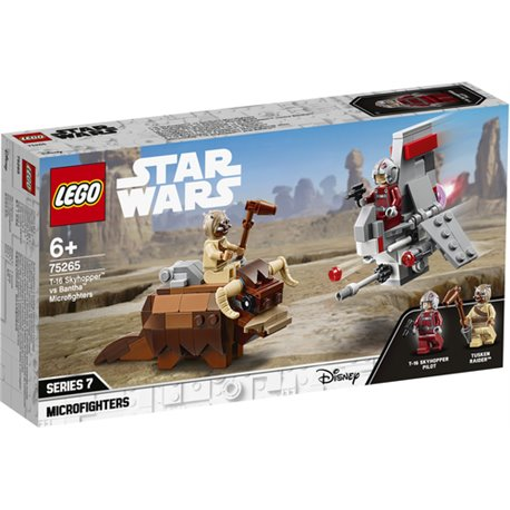 LEGO STAR WARS: MICROFIGHTER T-16 SKYHOPPER VS BANTHA
